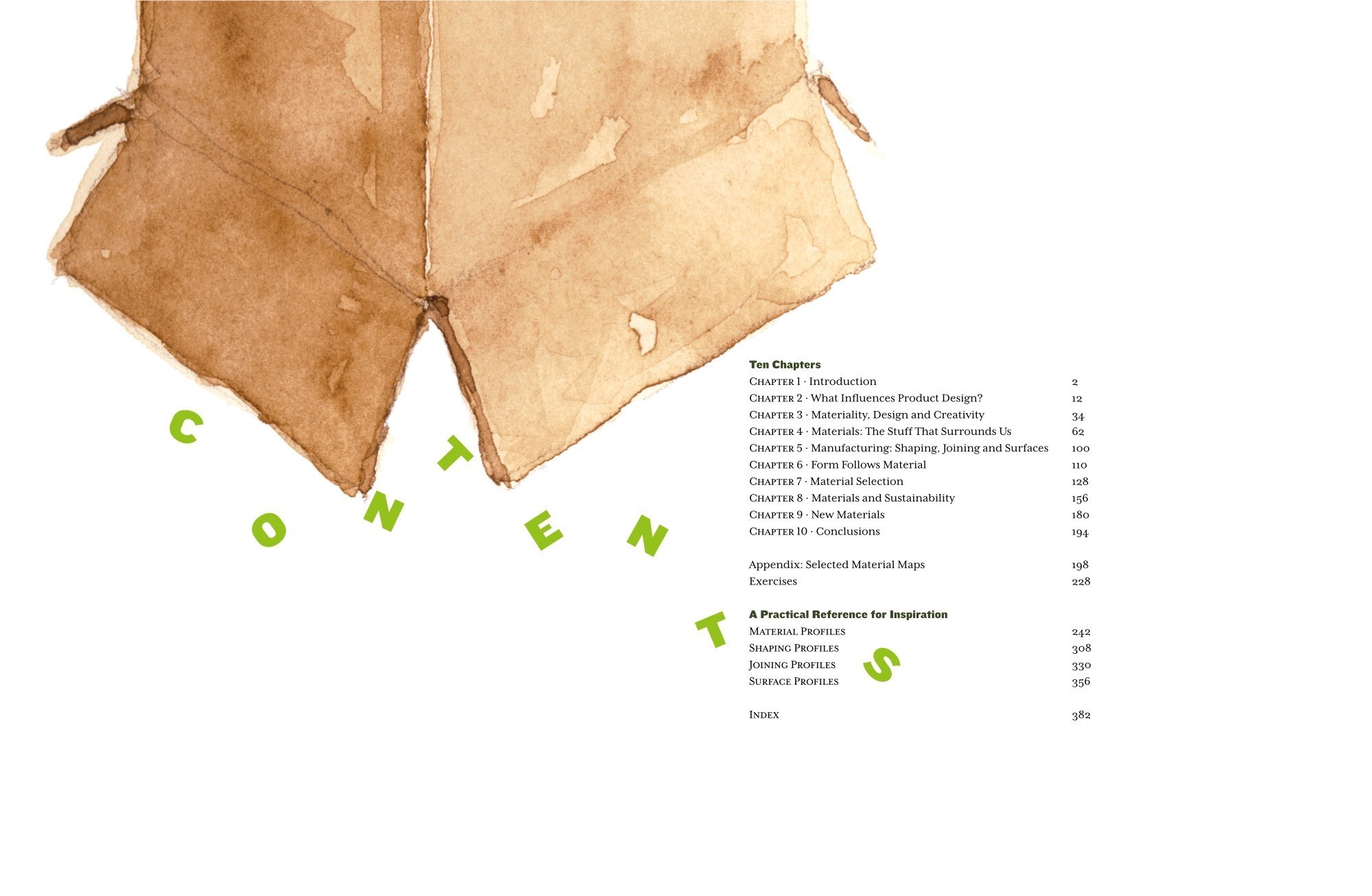 Materials and Design: The table of contents
